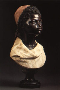 a bust of a negro boy by raimondo pereda