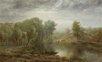 activities along the river by albert fitch bellows