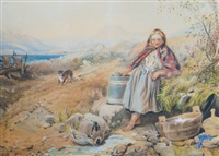 girl at the well by william mulready