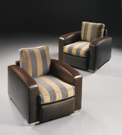 armchairs pair by paul dupré lafon