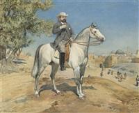 a horseman by a jerusalem gate by gustav bauernfeind