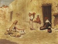 scène de rue à biskra by jacques alsina