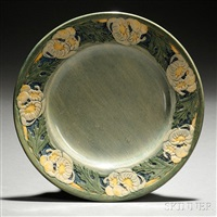 decorated plate (potter, joseph meyer) by anna frances connor simpson