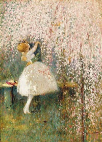 romance under the blossom tree by georges picard