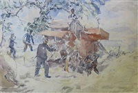 threshing by thomas hennell