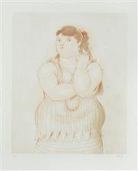 femme fumant by fernando botero