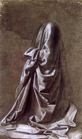 personnage agenouille tourné vers la gauche by leonardo da vinci