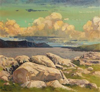 twlight, purteen harbour, achill by alex mckenna