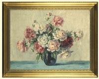 rose-white peonies by albert fiebiger