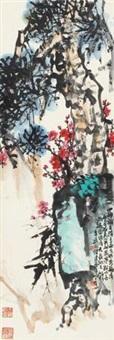 三友图 立轴 设色纸本 by tan jiancheng