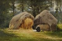 paysanne devant les meules by mary renard