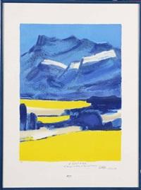 hommage à la drôme by bernard cathelin