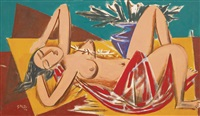 untitled (reclining lady) by george keyt
