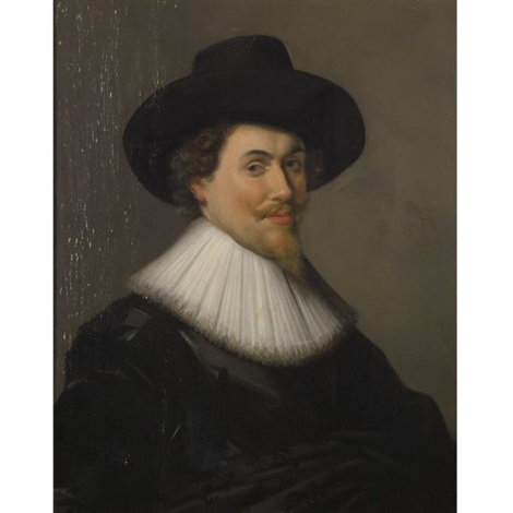 portrait of a man in black by frans hals the elder