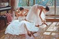 two ballet girls by alexander akopov