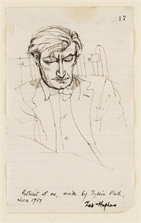 portrait of ted hughes by sylvia plath