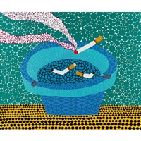 ashtray by yayoi kusama
