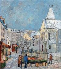 le marché mouffetard, place st. médard by jacques camus