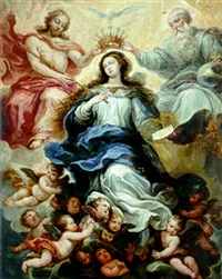 the coronation of the virgin by francisco ricci