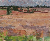 suffolk landscape by claude rogers