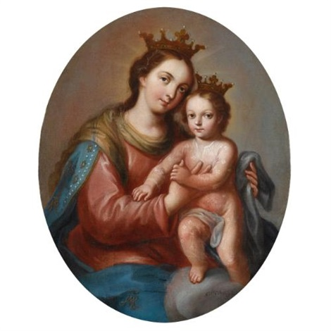 the virgin and child in glory by miguel cabrera