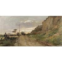 paesaggio con gregge by domenico battaglia