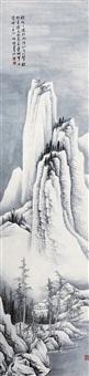 雪霁图 立轴 水墨纸本 (scape) by he haixia