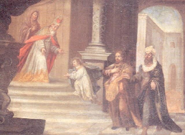 jesús niño en el templo by josé antolinez