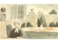 the court room by edward ardizzone