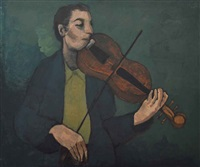 azef kaman (the violinist) by louay kayyali