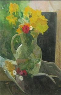 pot whit yellow flowers by alexandru phoebus