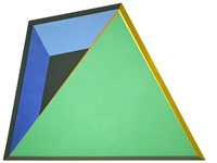 green triangle overlay by ronald davis