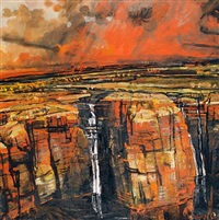 red escarpment, kimberley area by geoff la gerche