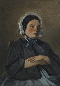 portrait présumé de madame robert mère by jean-baptiste-camille corot