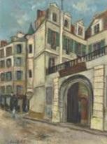 la rue hautefeuille, college danville à paris by maurice utrillo