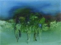 three figures at evening by gerald davis