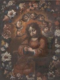 el niño de la espina en orla de flores by vicente berdusan