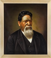 portrait of wiremu tako ngatata by gottfried lindauer