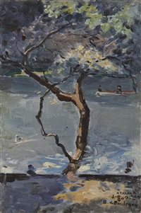 arbre en bords de rivière (+ 4 others; 5 works) by enrique atalaya