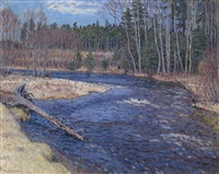 spring waters by nikolai petrovich bogdanov-bel'sky