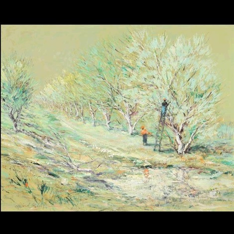 afternoon in the orchard by clifford f silsby