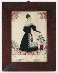 folkart portrait by joseph h. davis