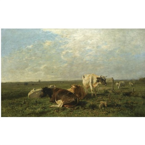 cattle at pasture by anton mauve