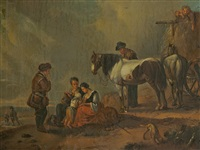resting peasants by philips wouwerman