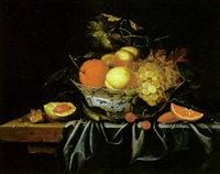 nature morte à la coupe de fruits by johannes borman