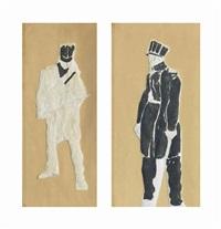 studien zu auszug der jenenser studenten (2 works) by ferdinand hodler