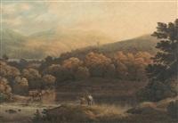 view of llandidlip by john glover