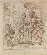 scène d'histoire: david et abigaïl by cornelis schut the elder