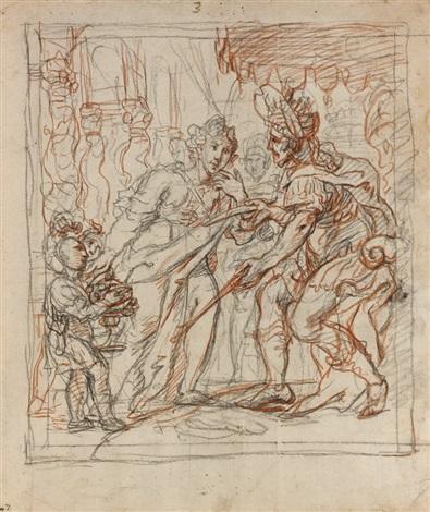 scène dhistoire david et abigaïl by cornelis schut the elder