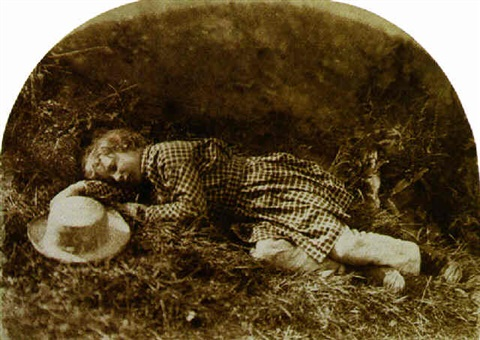 child lying down master hope finlay by david octavius hill and robert adamson